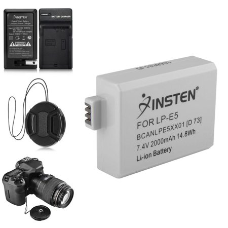 Insten 2 BATTERY+CHARGER+MORE For CANON LP-E5 Rebel Xs Xsi T1i (5-in-1 Accessory Bundle) (Canon Xsi Rebel Battery Grip)