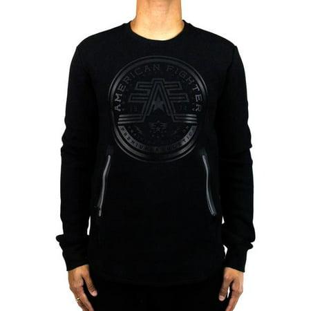 Affliction Refined Crewneck Sweatshirt LARGE BLACK