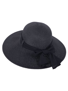 Product Image Women s Cute Wide Brim Summer Hat with Chiffon Ribbon Light  Brown d5f4d81a9395