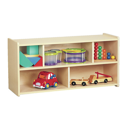 Constructive Playthings Two Level Toddler Storage Shelf Unit