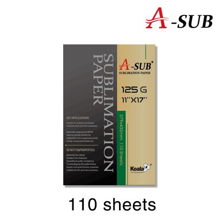 A-SUB Sublimation Paper 11'' x 17'' for For EPSON ME Series, RICOH GX Series And SAWGRASS Printers with Sublimation ink, 110 Sheets