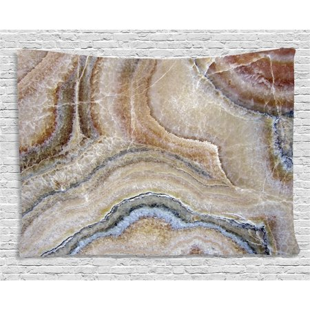 - Marble Tapestry, Surreal Onyx Stone Surface Pattern with Nature Details Artistic Picture, Wall Hanging for Bedroom Living Room Dorm Decor, 80W X 60L Inches, Cinnamon Grey Tan Beige, by Ambesonne