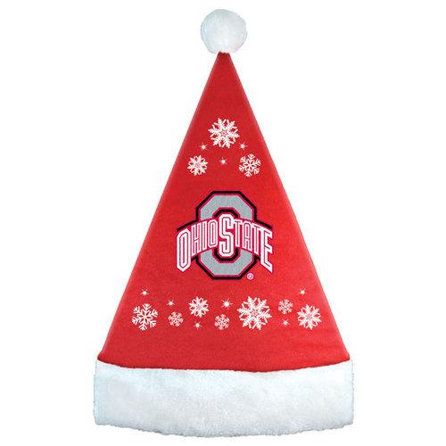 NCAA - Ohio State Buckeyes Snowflake Santa Hat