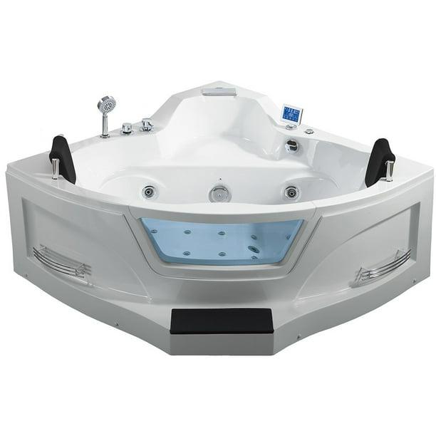 5 Ft Right Drain Corner Alcove Whirlpool Bathtub In White Walmart Com Walmart Com