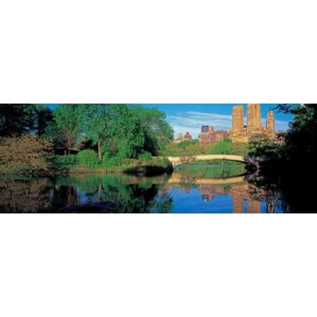 Bow Bridge and Central Park West View NYC Poster Print by Richard Berenholtz