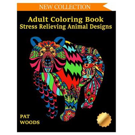 Adult Coloring Book : Stress Relieving Animal - Anime Adults