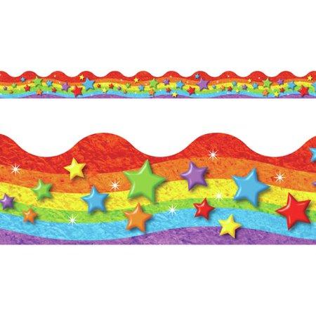 - TREND enterprises, Inc. Rainbow & Stars Terrific Trimmers  Classroom Border
