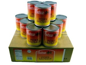Yoders 12 Can Box Canned Pork Sausage, 28 Ounces Each by Yoders