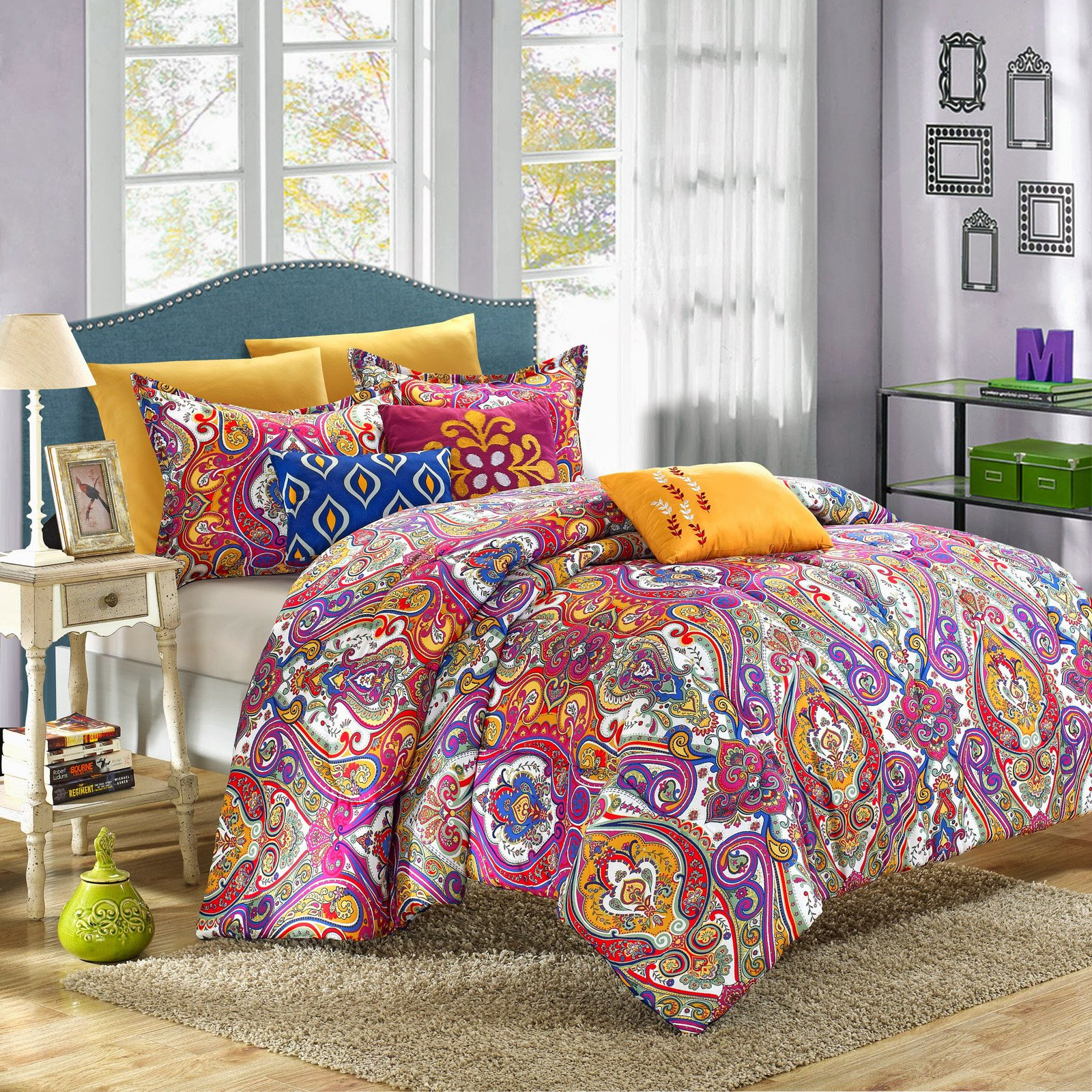 Chic Home Mumbai Reversible Luxury Bed in a Bag Comforter Set