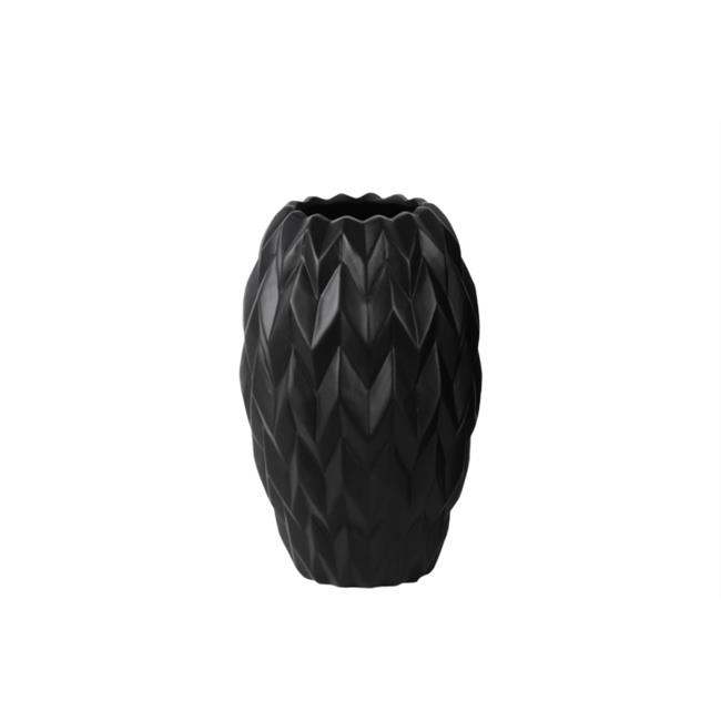 Urban Trends Collection 21427 4 Piece Small Gloss Black Ceramic