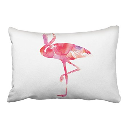 WinHome Decorative White Flamingo Pillow Covers Decorative Accent Pillows Throw Pillow Case for Girls Size 20x30 inches Two Side