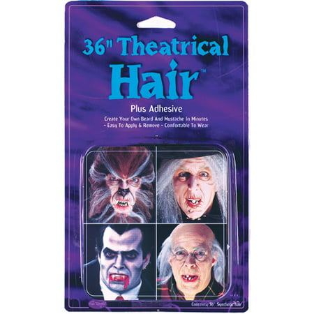 Hair With Adhesive Halloween Accessory