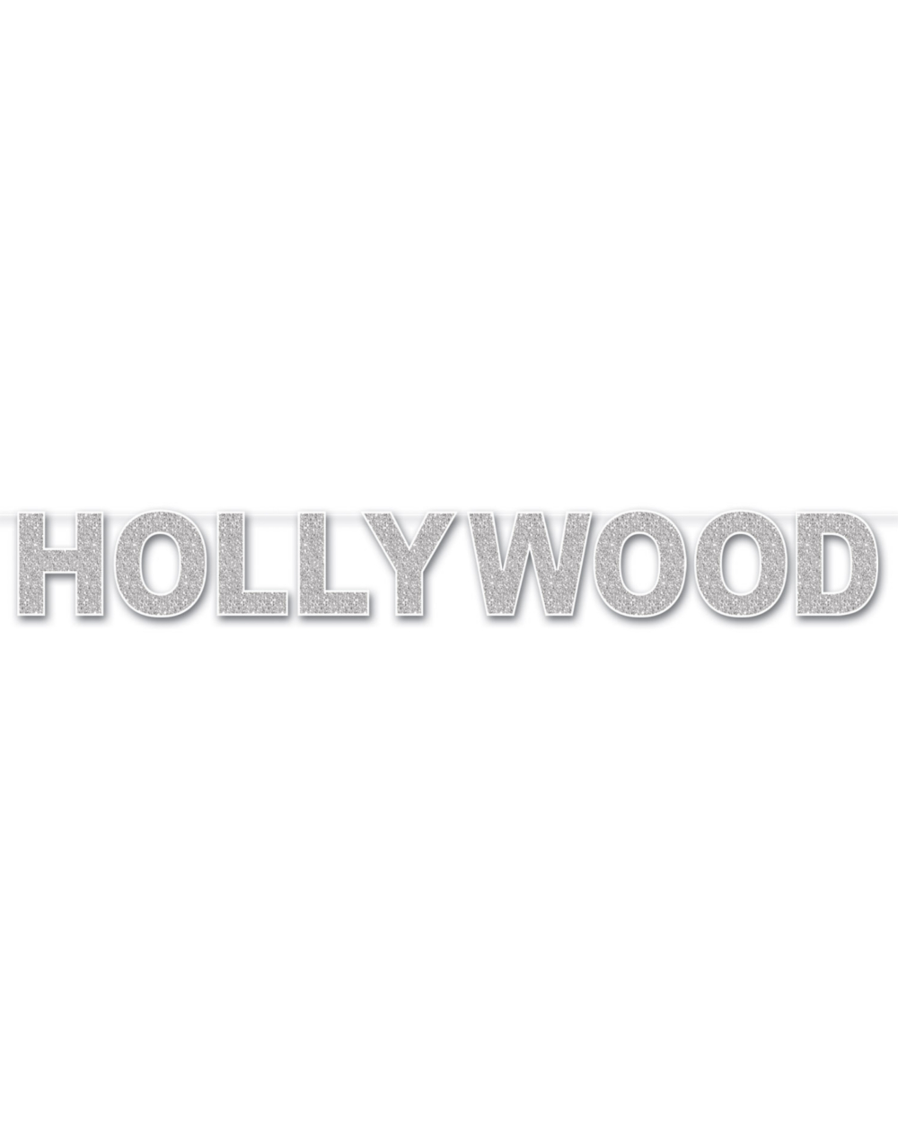 Gold, Hollywood Movie Night Party Glittered Fringe Letter Banner Decoration