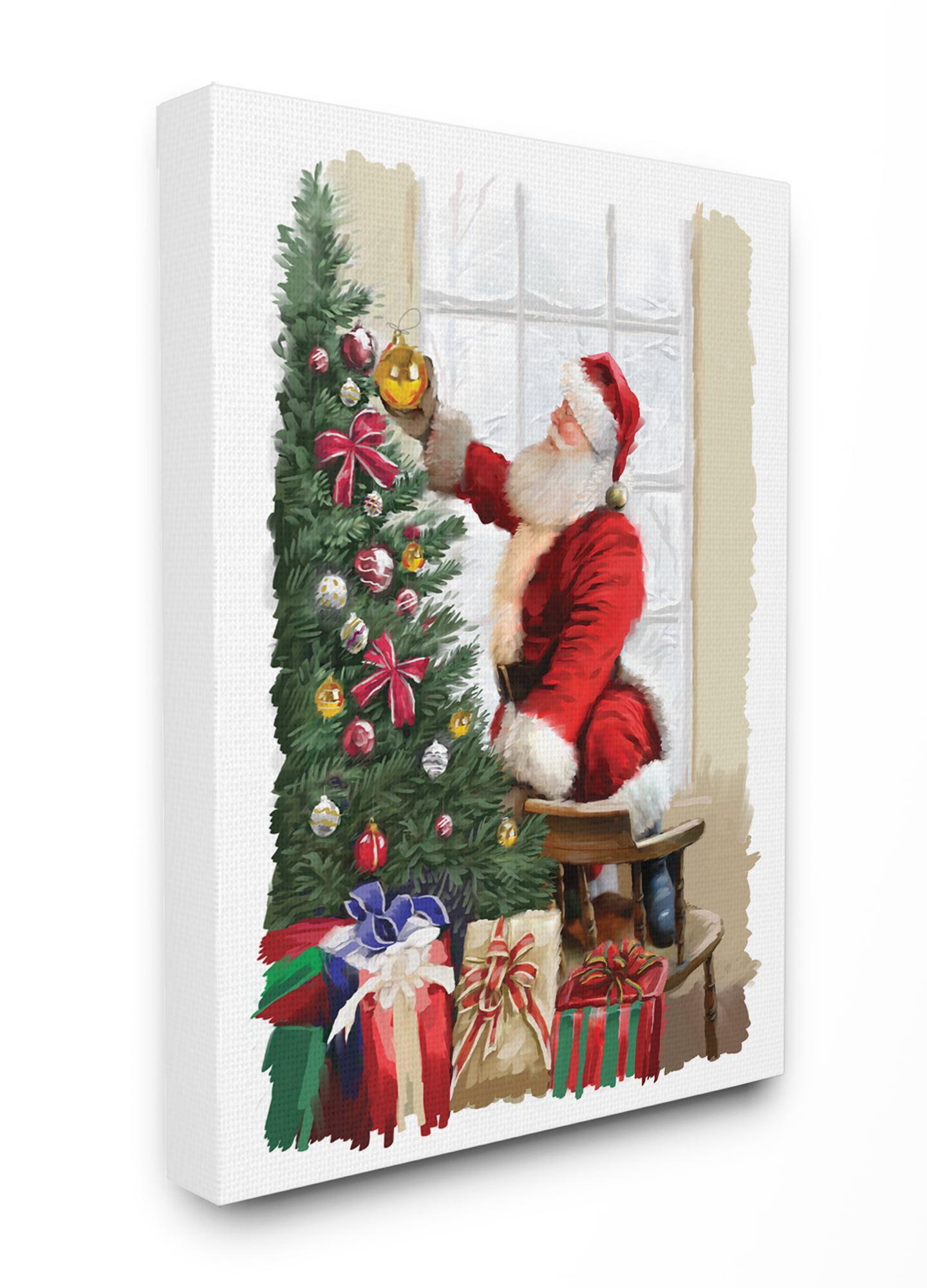 Christmas Home Decor Christmas Eve Canvas Wall Art Print