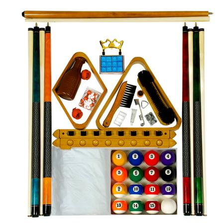 Billiard    Pool Table Accessory Kit W Art   Style Ball Set Oak Finish