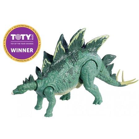 Stegosaurus Dinosaur Miniature (Jurassic World Action Attack Stegosaurus Dinosaur for Ages 4Y+ )