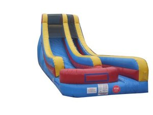 Pogo 18' Red Yellow Blue Commercial Kids Jumper Inflatable Waterslide with Blower by Pogo Bounce House