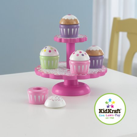 Kidkraft Wooden Cupcake Stand With Cupcakes Walmart Canada