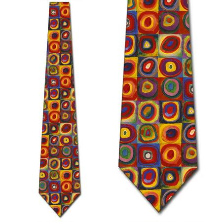 Art Ties Mens Kandinsky Geometric Necktie by Three Rooker