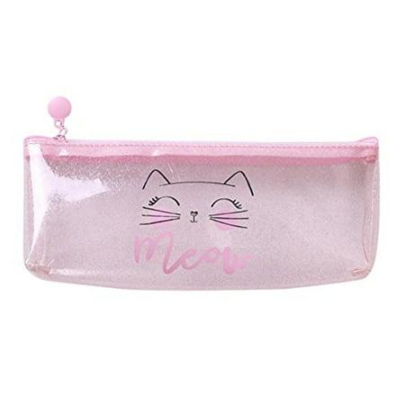 52c780b7b288 pink transparent pencil case,pausseo students pen bag school ...