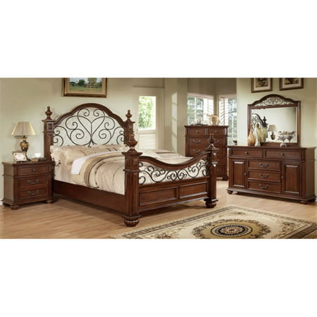 Furniture Of America Hauline 4 Piece King Bedroom Set