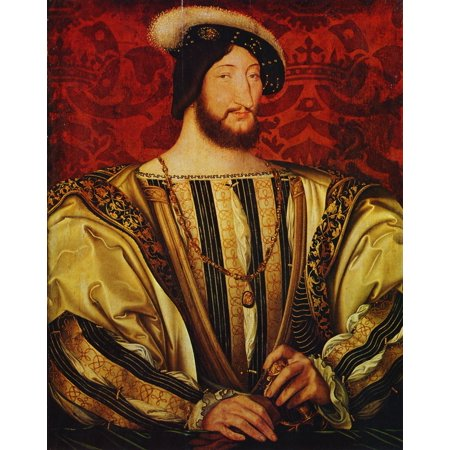 Framed Art for Your Wall Clouet, Jean - Portrait of King Francis I of France 10 x 13 Frame ()