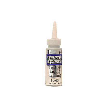 Gallery Glass Redi Lead - Plaid Gallery Glass Liquid Leading 2oz Silver Met