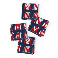 Cocktail Napkins Derby Days Jockey Racing Silks Thoroughbred Horse Race Set of 4