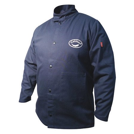 Welding Jacket, 2XL, Navy, 52 to 54 Chest CAIMAN ()