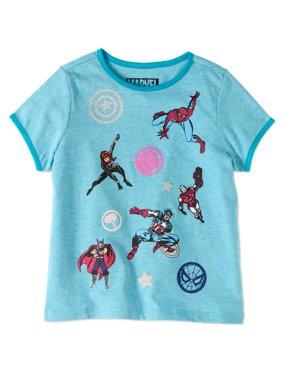 Marvel Avengers Girls' Hero Poses Tee