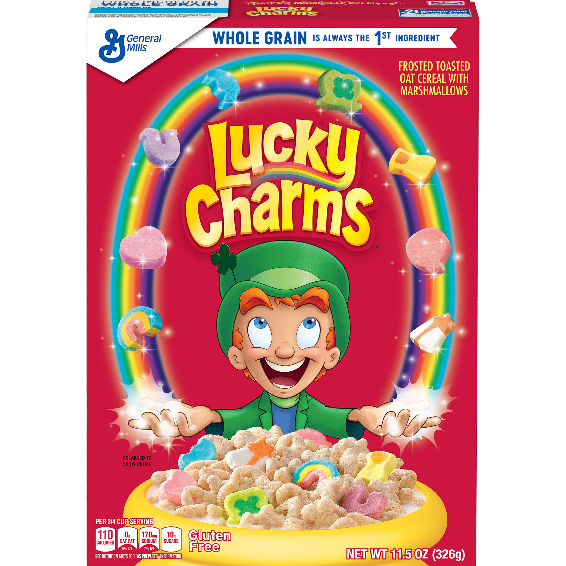 Lucky Charms Gluten Free Breakfast Cereal, 11.5 oz Box