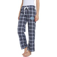 Women's Navy/Gray North Carolina Tar Heels Devote Flannel Lounge Pants