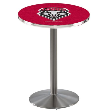 """L214 - 42"""" Stainless Steel New Mexico Pub Table with 36"""" dia. top by Holland Bar Stool Co."""