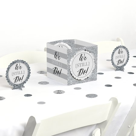 50th Wedding Anniversary Table Centerpieces (We Still Do - Wedding Anniversary - Party Centerpiece & Table Decoration)