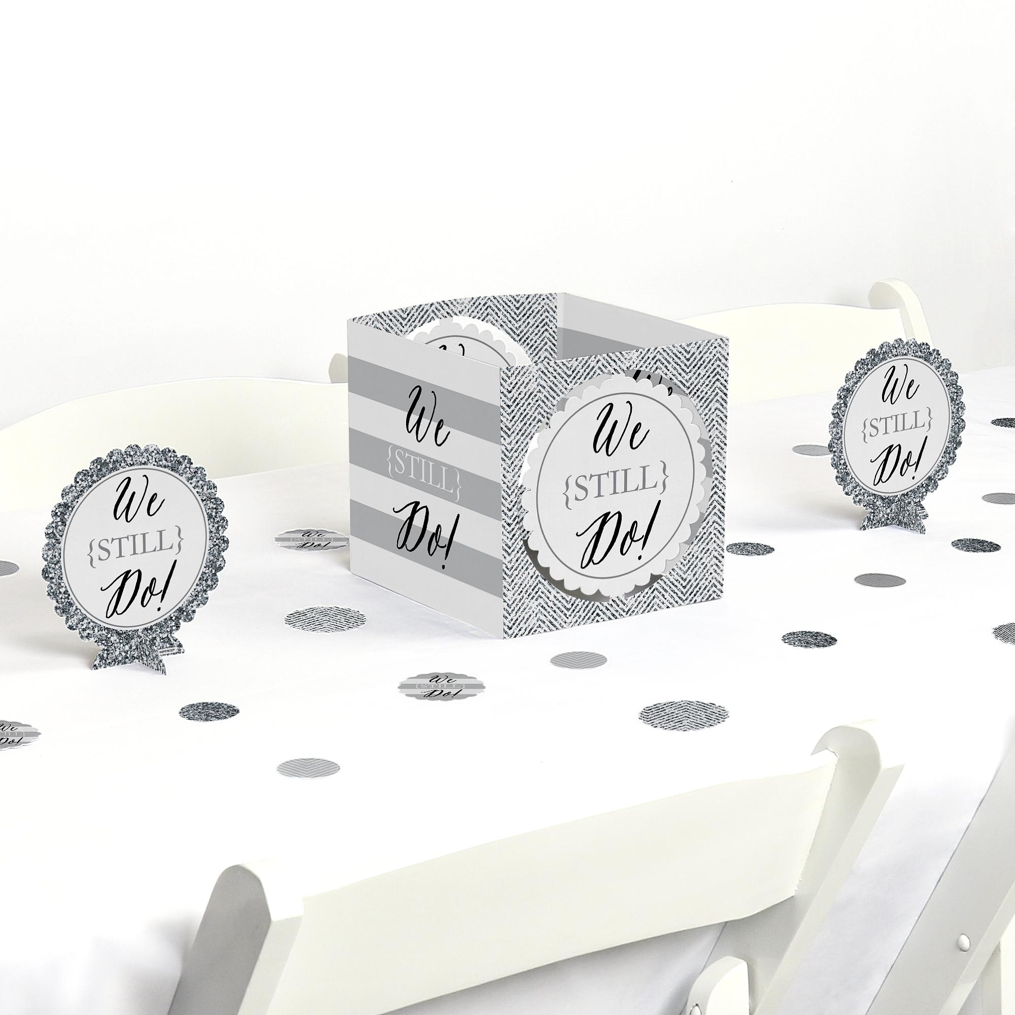 We Still Do - Wedding Anniversary - Party Centerpiece & Table Decoration Kit