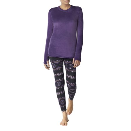 Stretch luxe velour Warm Underwear Top and Legging