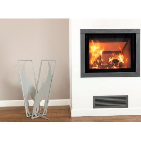 Curonian LRFlameS Flame Design Log Rack in Silver