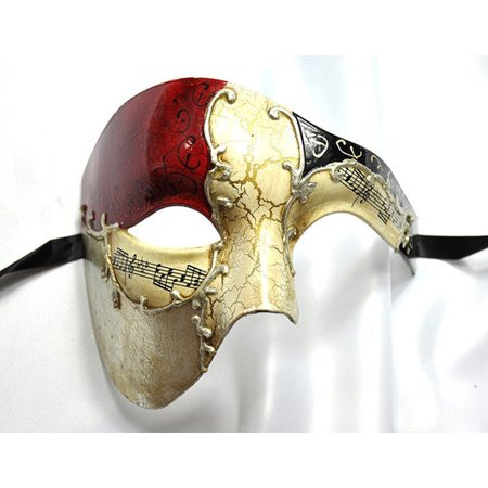 Phantom of the Opera Red Musical Venetian Masquerade Masks](Masquerade Masks Red)