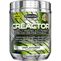 MuscleTech Creactor Creatine Powder, Unflavored, 120 Servings