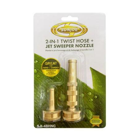 Hose Nozzle Set - Sun Joe 2-in-1 Twist Hose Nozzle & Jet Sweeper Nozzle – SJI-4BHNC