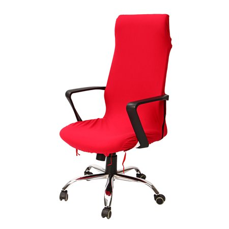 Meigar Computer Chair Covers Office Elastic Chair Covers Spandex Fabric Stretch Rotating Swivel Chair Seat Covers Durable Chair Cover