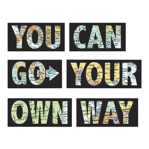 WallPops Go Your Own Way Wall Quote Decals