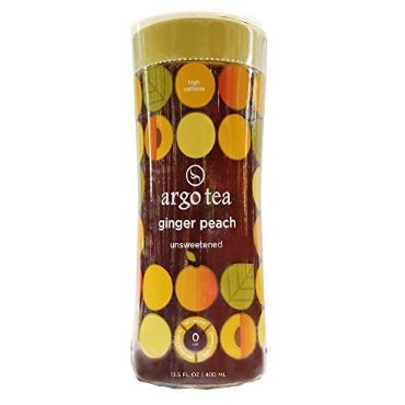 Argo Tea Unsweetened Bottled Tea Ginger Peach 13.5 FZ (Pack of 12)