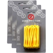 """NEW Zero Friction Yellow Tees 2¾"""" Plastic 3 Packs of 50/ 150 Total 3 Prong 2.75"""""""
