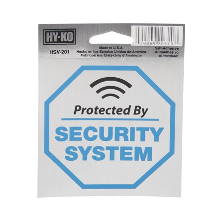 4x4 Security System Sign
