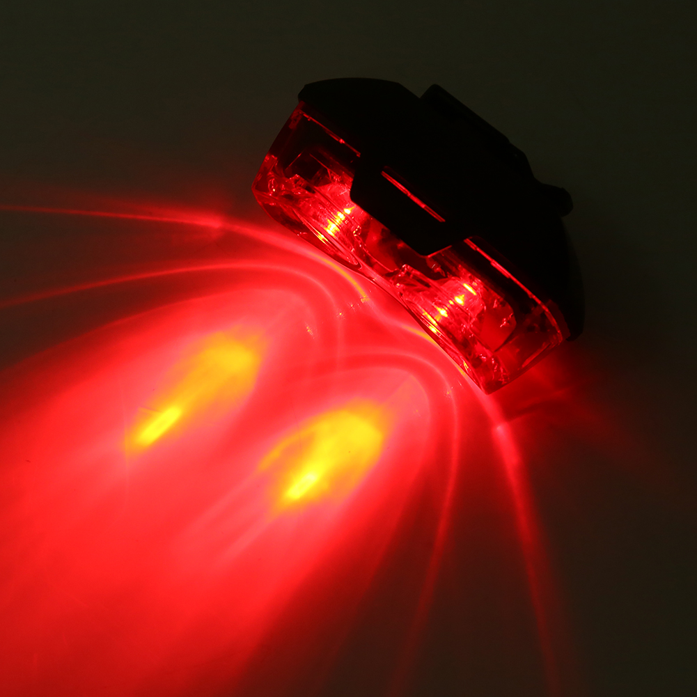 Bike Bicycle Cycling Night Super Bright Red 2 LED Safety Rear Tail Lights AAA
