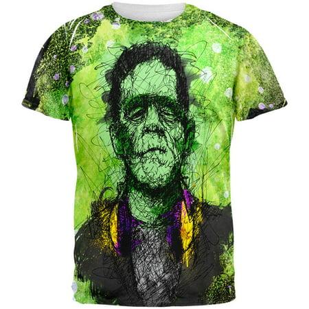 Halloween Frankenstein Raver Horror Movie Monster All Over Mens T Shirt