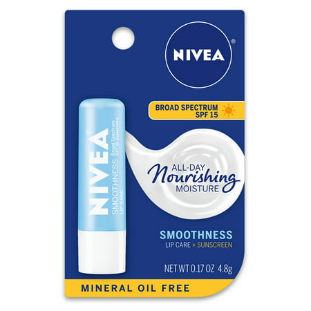 NIVEA Smoothness Lip Care SPF 15 0.17 oz. Carded Pack Spf 15 Sheer Lip Balm