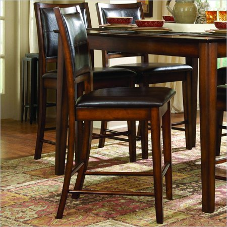 Oak Counter Height Side Chair - Homelegance Verona Dark Oak 24