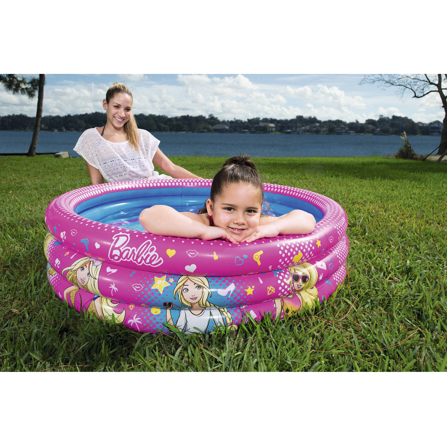 Barbie 3-Ring Inflatable Play Pool